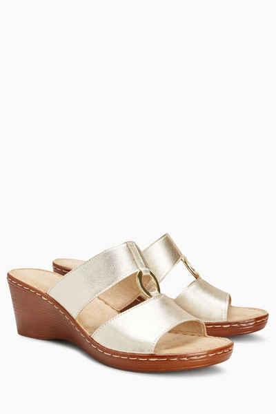 Next Sandalen mit Doppelschnalle, goldfarben, Rose Gold