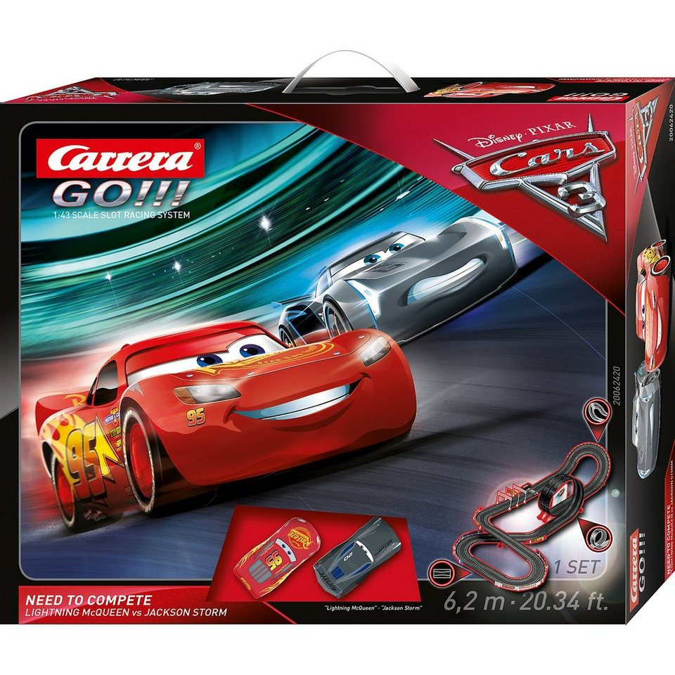 carrera go 62420 disney pixar cars 3 need to compete. Black Bedroom Furniture Sets. Home Design Ideas