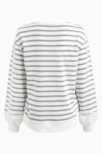 Next Sweatshirt mit Spitzenärmeln
