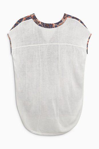 Next T-Shirt aus Mischgewebe mit Wickeldetail