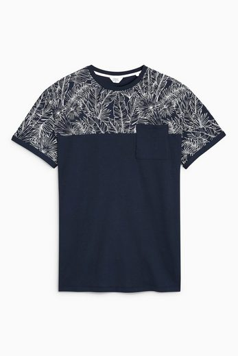 Next Shirt With Floral Print In Block Colors
