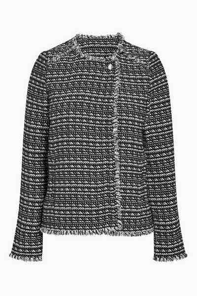 Next Kastenförmige Jacke in Tweed-Optik
