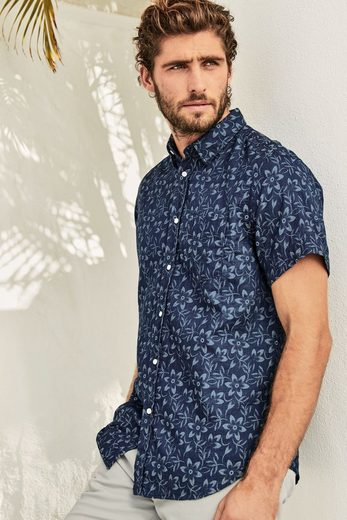 Next Short-sleeved Shirt With A Floral Pattern