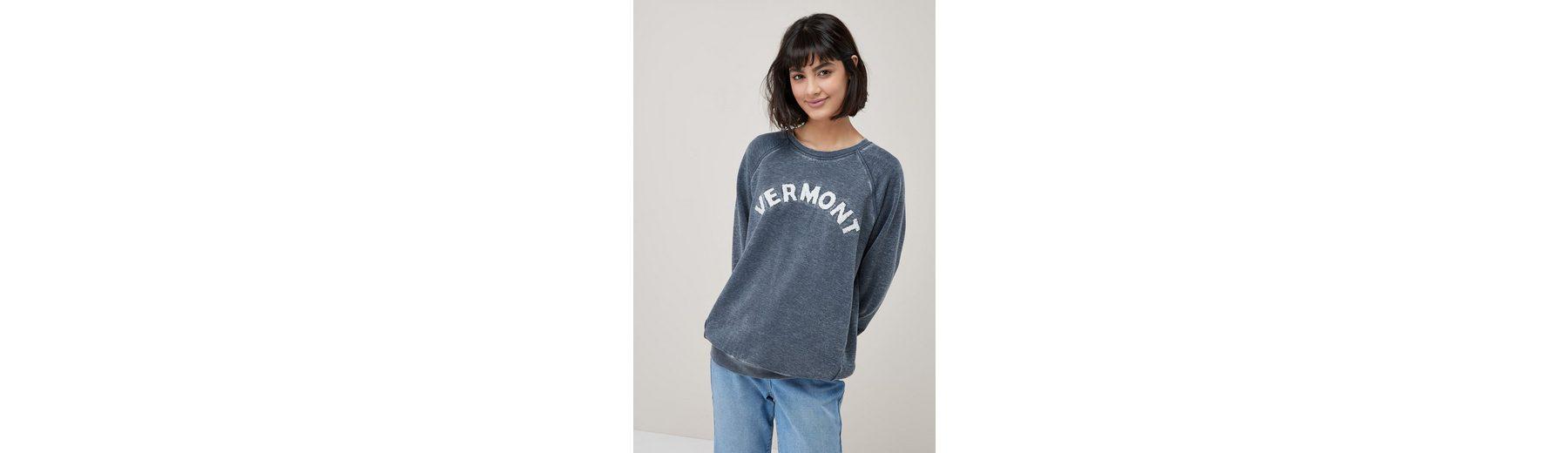 Next Sweatshirt in Washed-Optik mit Schriftzug Billig Verkaufen Kaufen Spielraum Finish Freies Verschiffen Der Suche Nach EIsfzITWU
