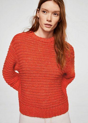 MANGO Melierter Oversized-Pullover