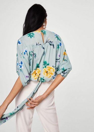 MANGO Bluse mit Blumenmuster