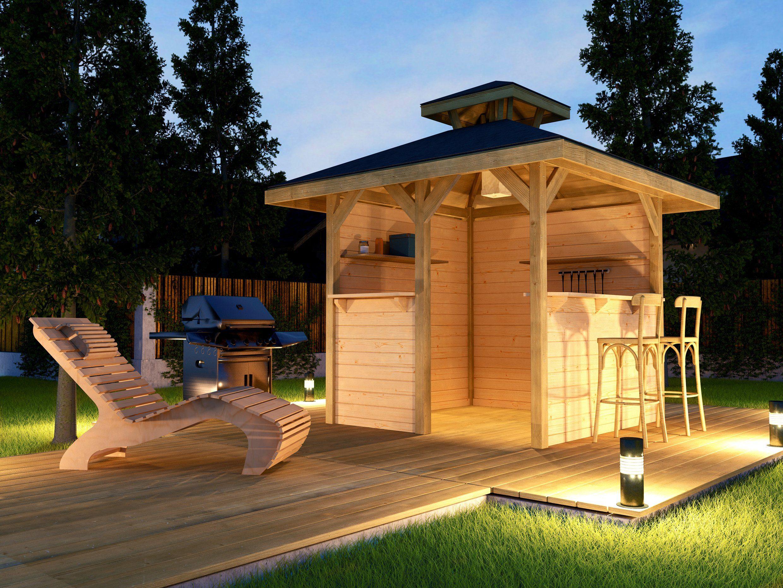 WEKA Pavillon »Gartenoase«, BxT: 294x294 cm