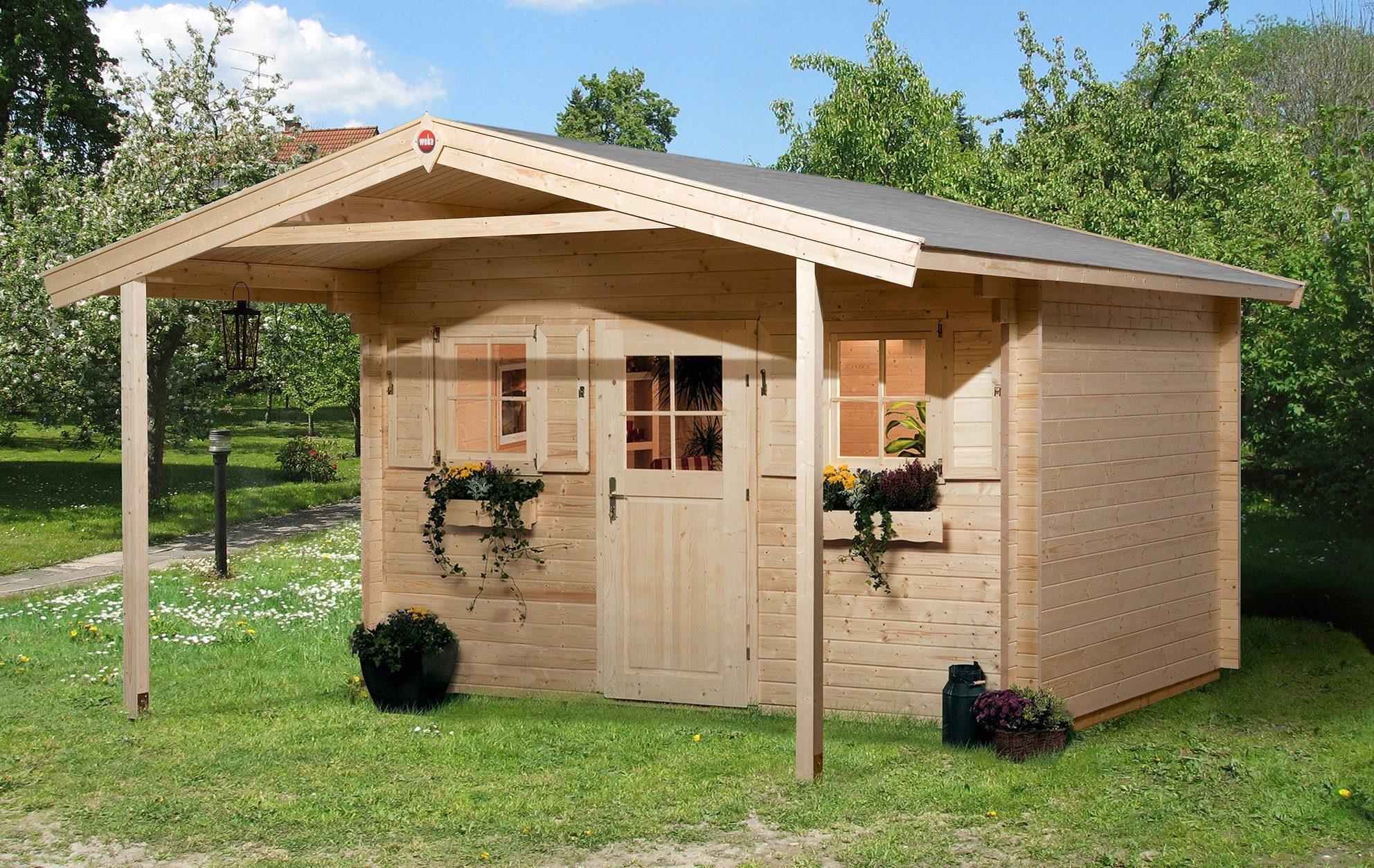 WEKA Set: Gartenhaus »138 A Gr.2«, BxT: 450x590 cm, inkl. Vordach und Fußboden