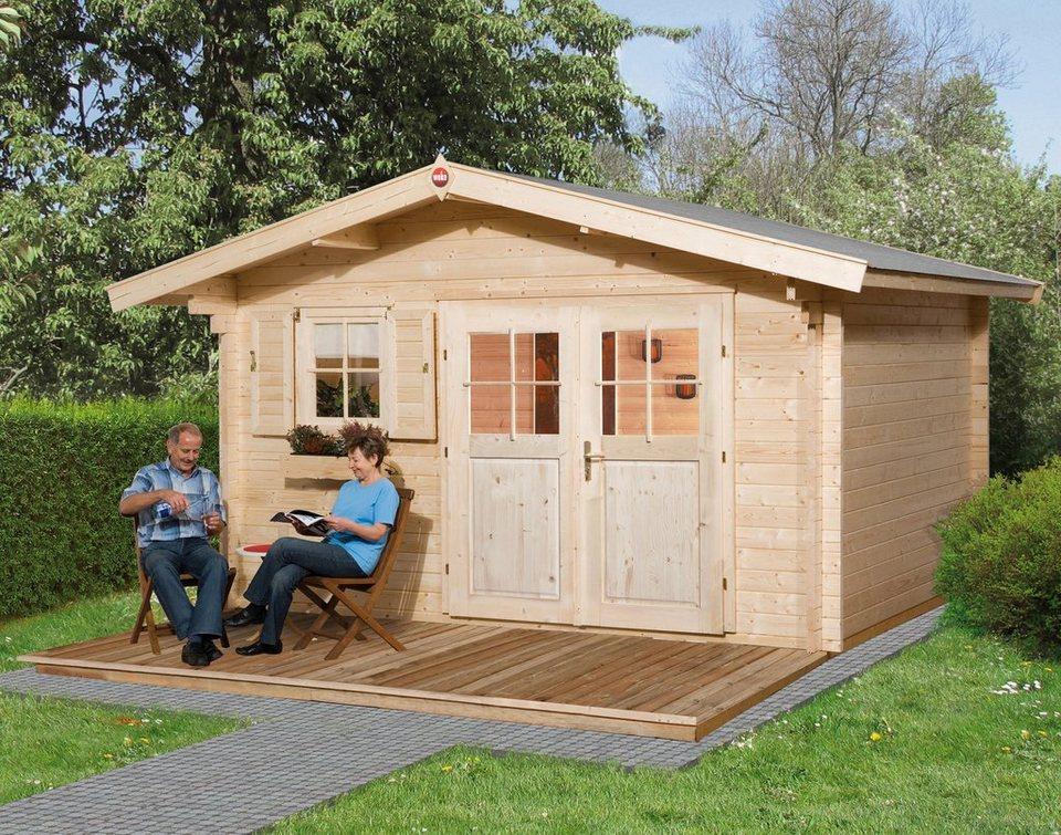 weka gartenhaus 136 gr 2 bxt 460x450 cm inkl fu boden online kaufen otto. Black Bedroom Furniture Sets. Home Design Ideas
