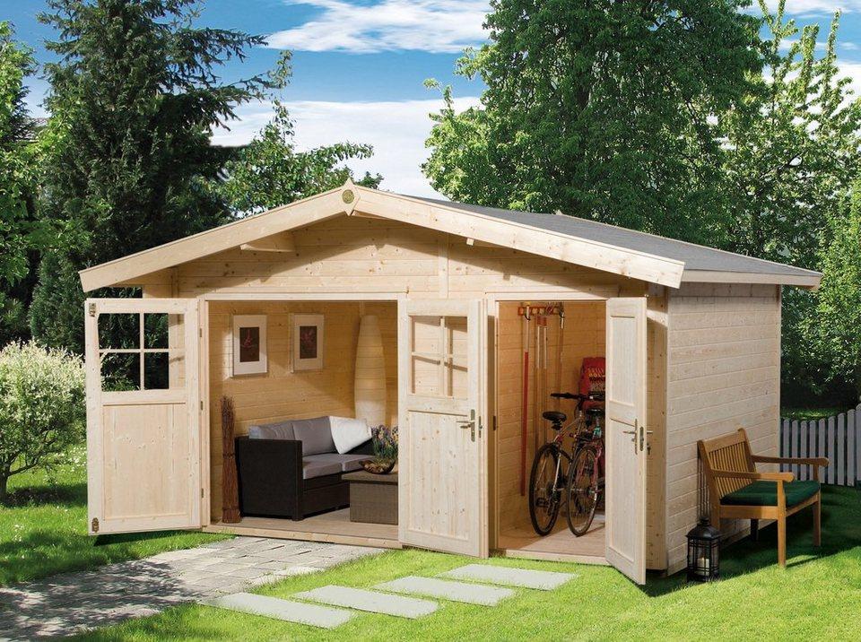 weka gartenhaus 261 gr 1 bxt 460x320 cm 2 r ume inkl. Black Bedroom Furniture Sets. Home Design Ideas