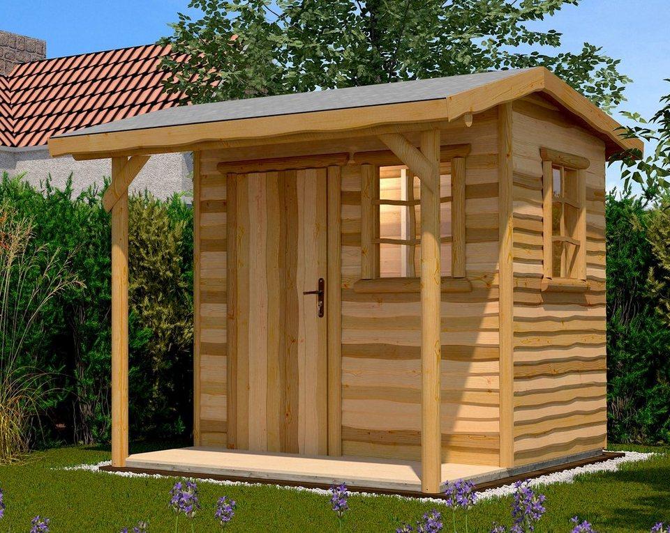 weka gartenhaus 820 gr 2 bxt 340x375 cm inkl vordach und fu boden online kaufen otto. Black Bedroom Furniture Sets. Home Design Ideas