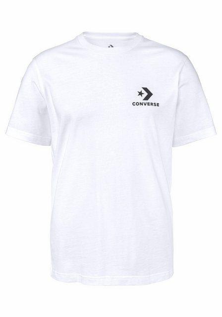 Herren Converse T-Shirt CONVERSE LEFT CHEST STAR CHEVRON TEE weiß | 00888755666951