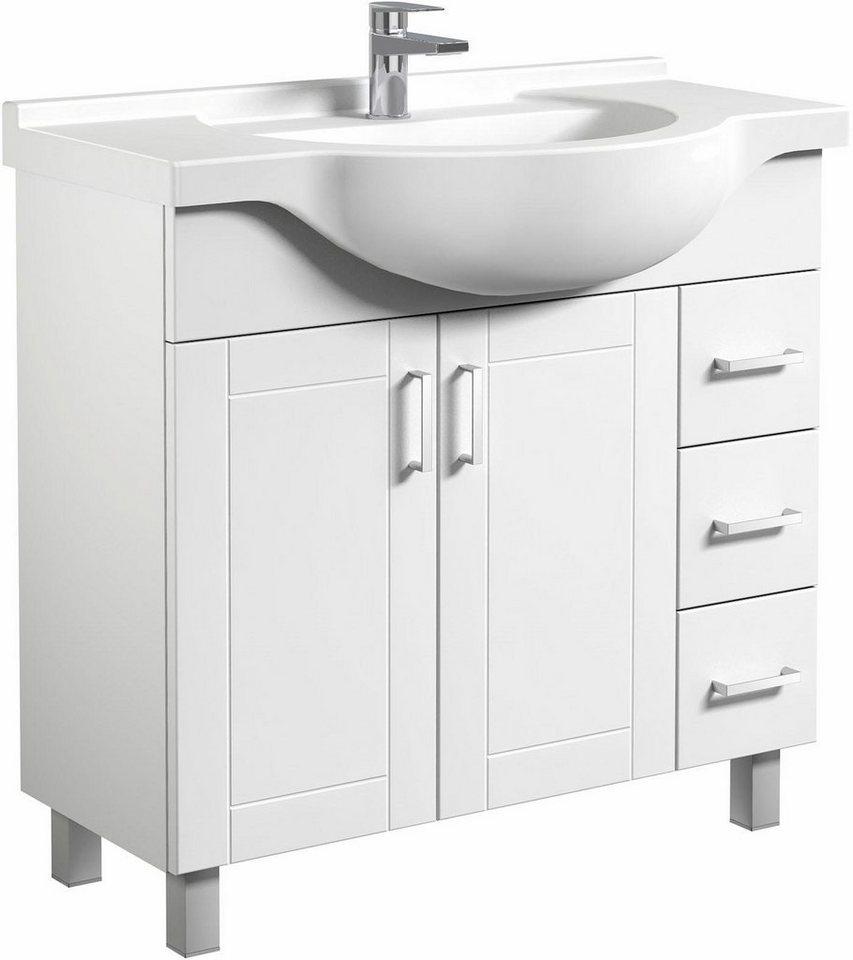 welltime  Waschtisch Eternal  vormontiert weiß | 04772033007269