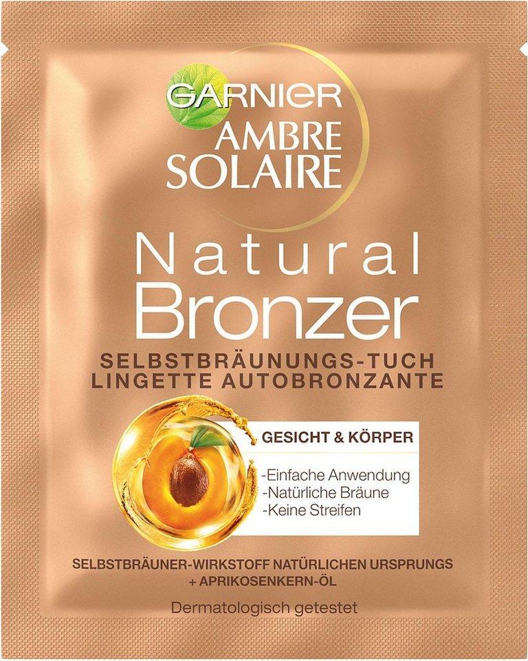 garnier -  Selbstbräunungstuch »Ambre Solaire Natural Gesichtstuch«, Set, 2-tlg.