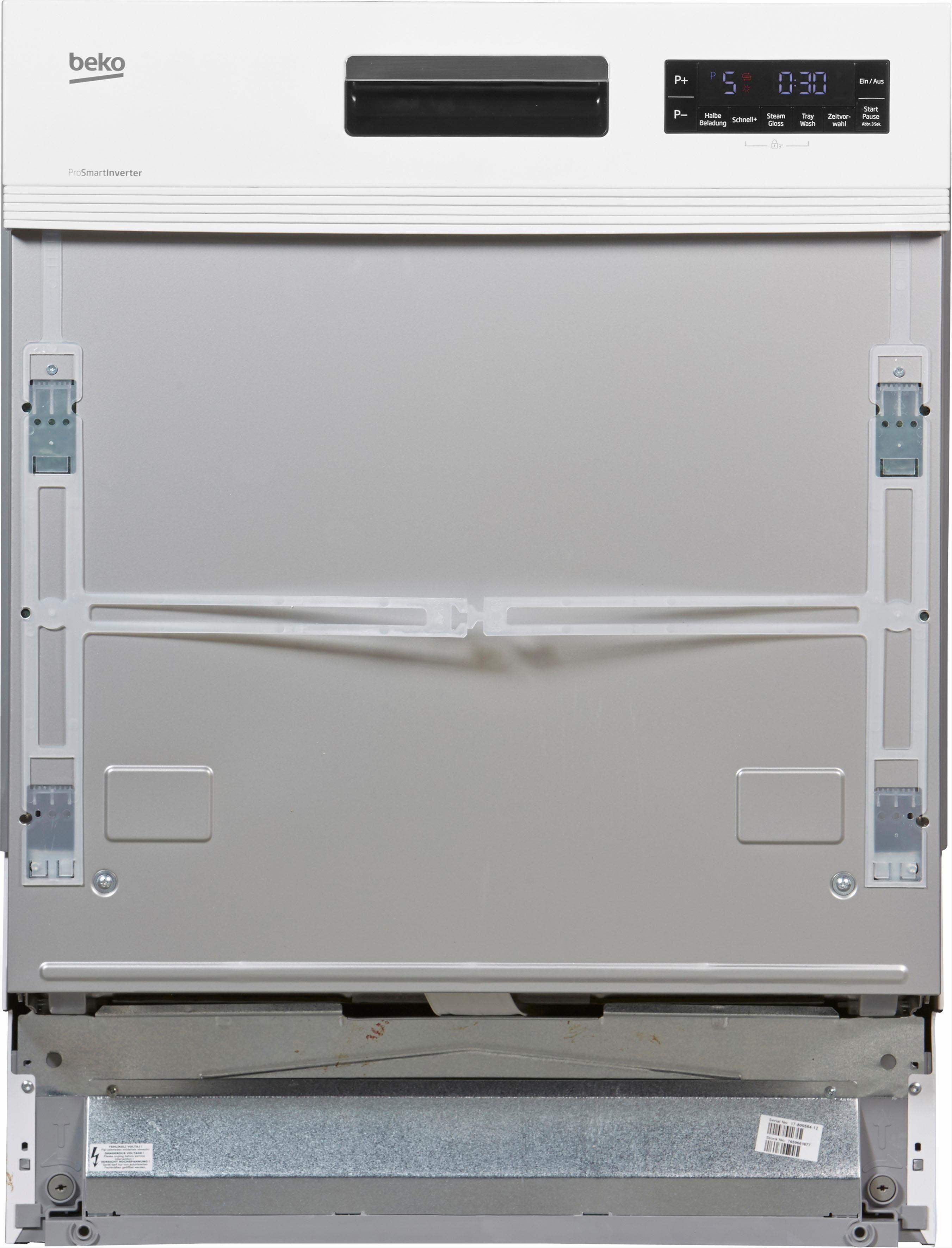 BEKO teilintegrierbarer Geschirrspüler, DSN6634W2, 9,5 l, 14 Maßgedecke