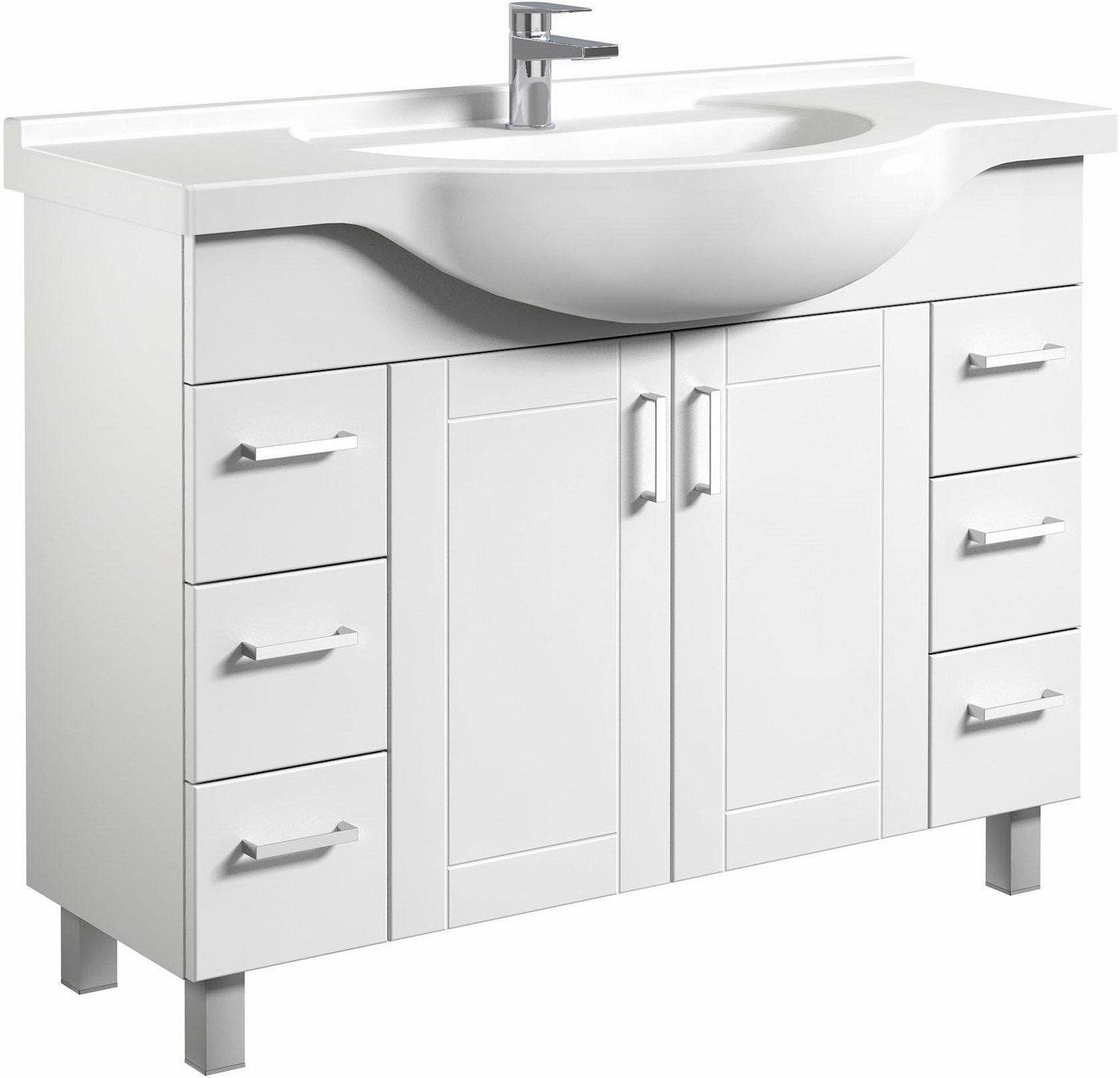 welltime  Waschtisch Eternal  vormontiert weiß | 04772033007276