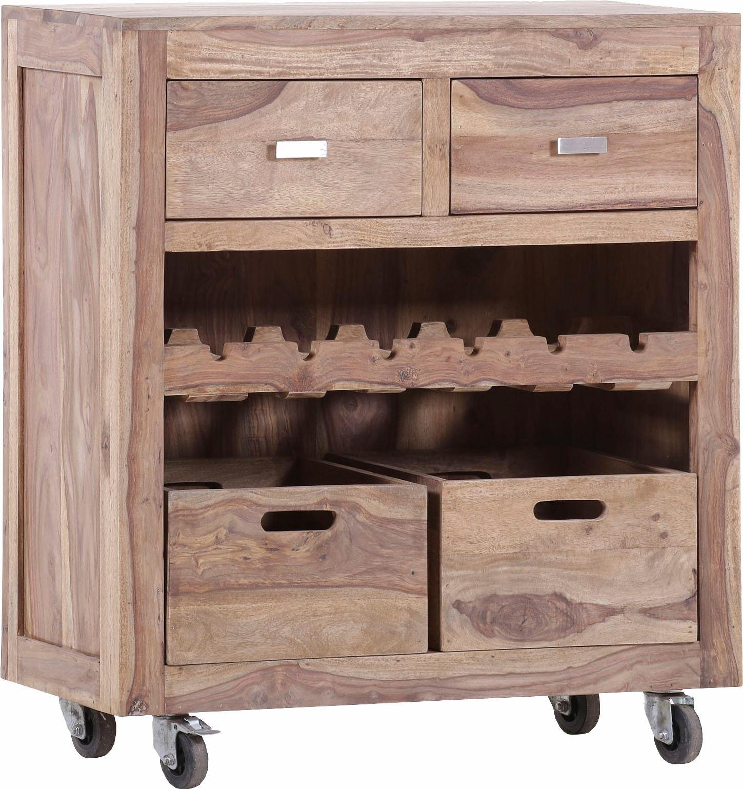 Küchenwagen »Inka« aus massivem Sheesham Holz
