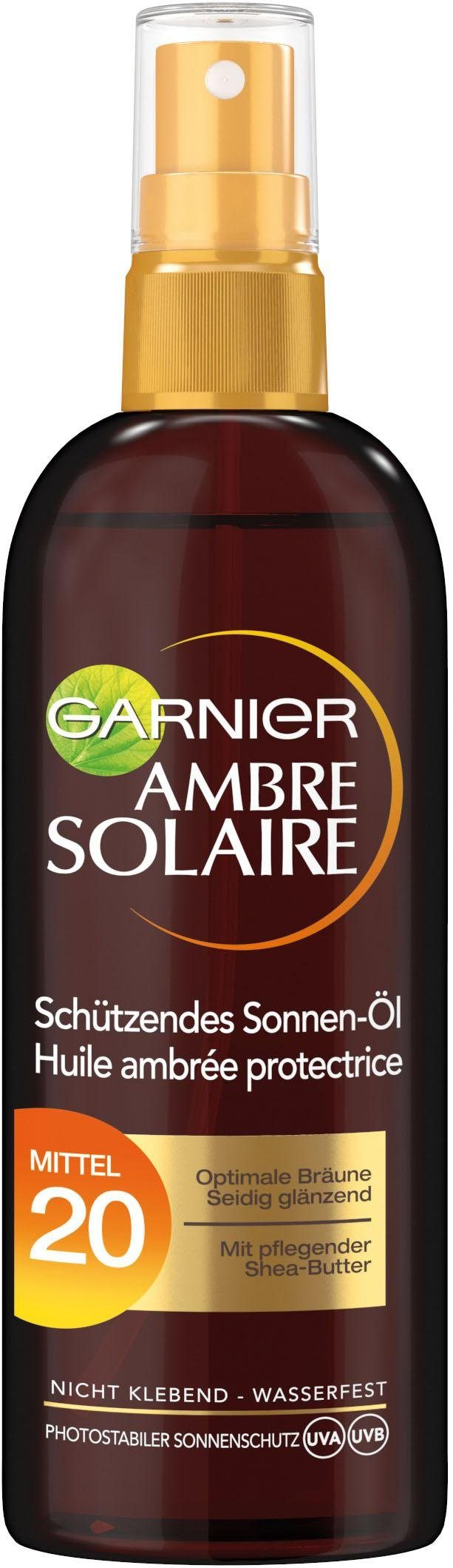 GARNIER Sonnenschutzöl »Ambre Solaire Bräunungsöl-Spray LSF 20«