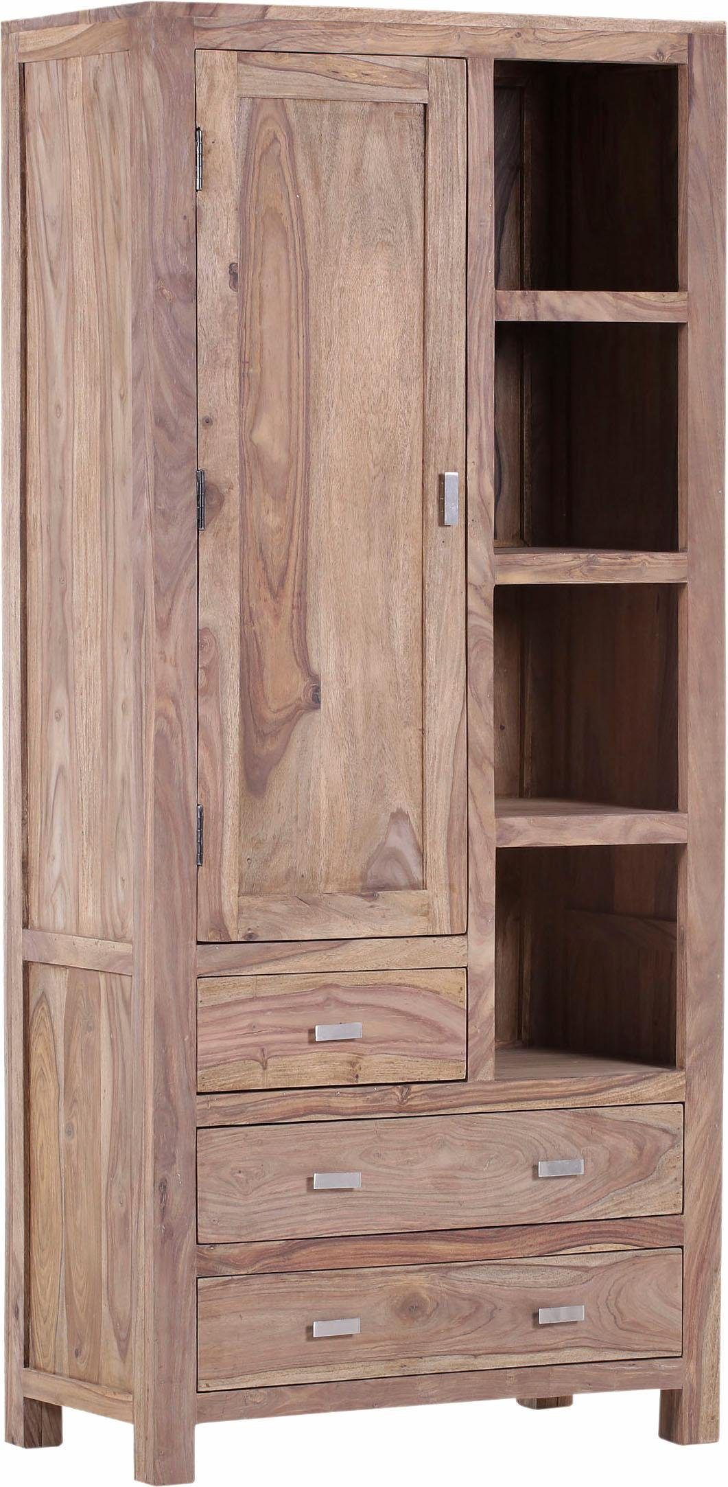 Gutmann Factory Vitrine »Inka« aus massivem Sheesham Holz, Höhe 190 cm