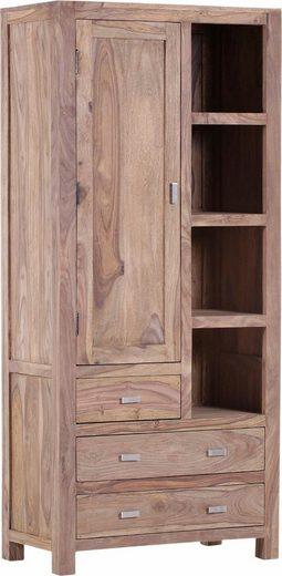 Gutmann Factory Vitrine »Inka« aus massivem Sheesham Holz, Höhe 190