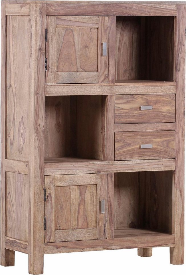 gutmann factory highboard inka aus massivem sheesham holz h he 140 cm online kaufen otto. Black Bedroom Furniture Sets. Home Design Ideas
