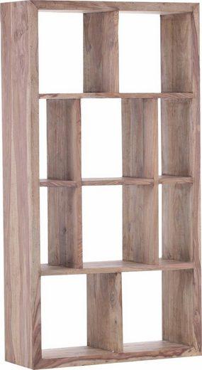 Gutmann Factory Raumteilerregal »Inka«, aus massivem Sheesham Holz, Höhe 180 cm