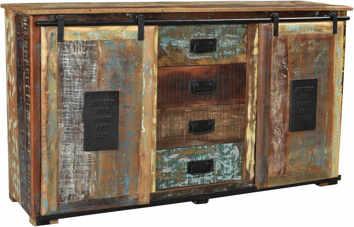 SIT Sideboard Jupiter aus recyceltem Altholz bunt,mehrfarbig | 04055195113031