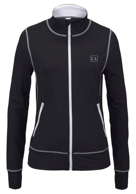 LASCANA ACTIVE Trainingsjacke »Black Marble« mit Kontrastnähten | Sportbekleidung > Sportjacken > Trainingsjacken | LASCANA ACTIVE