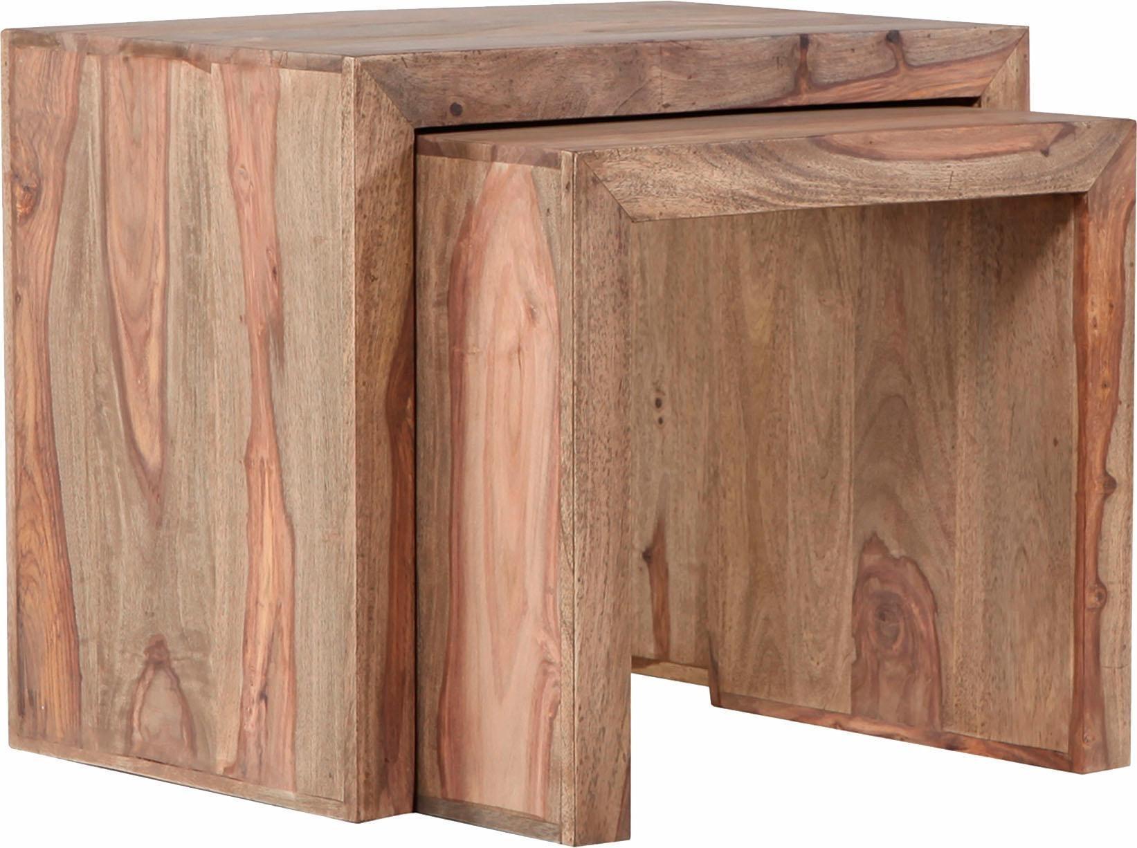 Satztisch »Inka« aus massivem Sheesham Holz