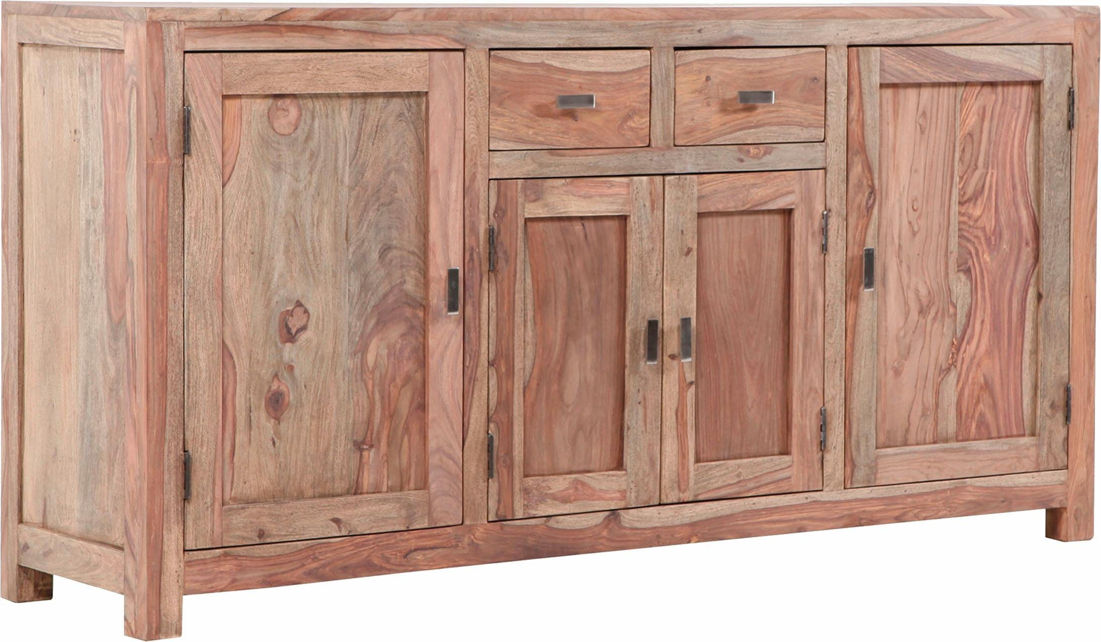 Sideboard »Inka« aus massivem Sheesham Holz, Breite 181 cm