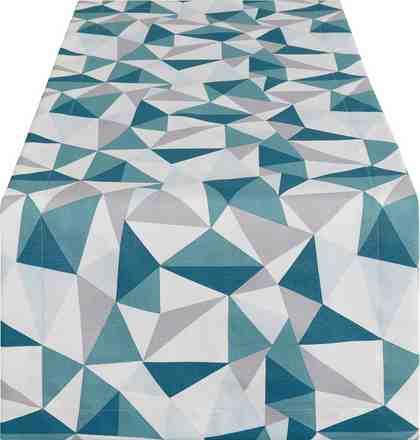 Tischläufer mit geometrischem Print, 50x150 cm