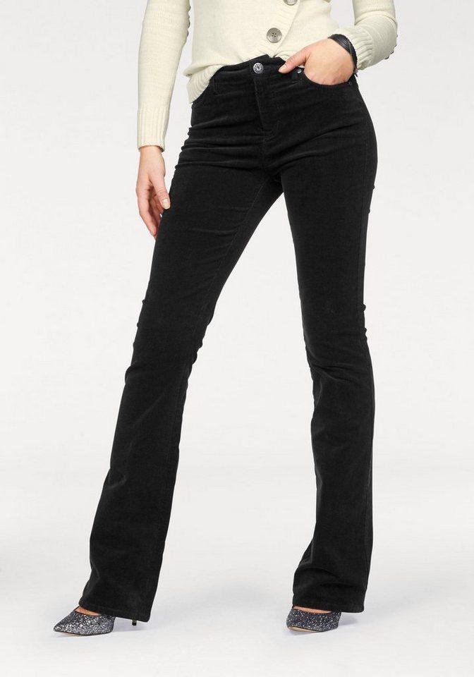Damen Arizona Cordhose Comfort-Fit High Waist-Bootcut schwarz | 06927976656557