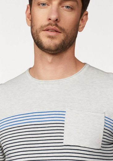 Edc By Esprit Striped Sweater, With Brand Label