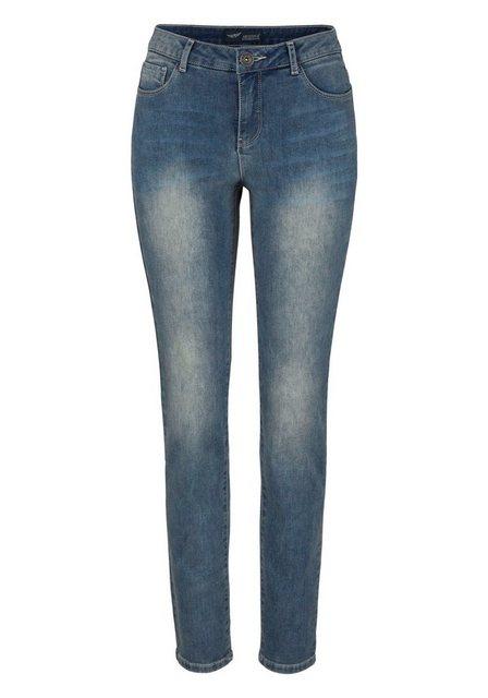 Hosen - Arizona Skinny fit Jeans »mit Thermo Effekt« High Waist › blau  - Onlineshop OTTO