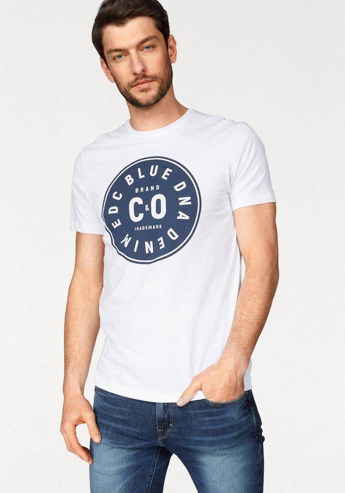 edc by esprit t shirt mit logoplakette kaufen otto. Black Bedroom Furniture Sets. Home Design Ideas
