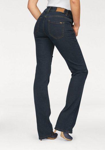 Arizona Bootcut-Jeans »Svenja - Bund mit seitlichem Gummizugeinsatz« High Waist