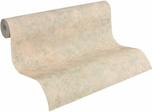 Livingwalls Vliestapete, Mustertapete Decoworld in Vintage-Putzoptik, grau