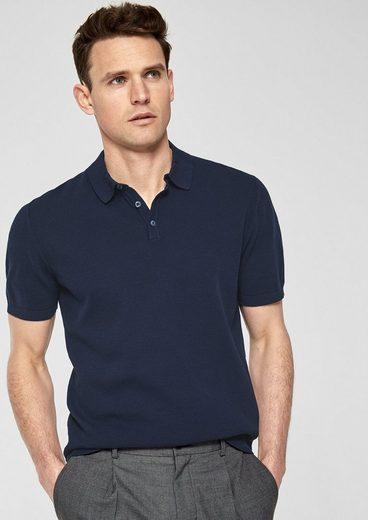 s.Oliver BLACK LABEL Poloshirt aus Feinstrick