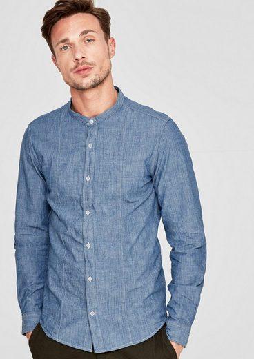 S.oliver Red Label Slim: Hemd In Chambray-optik