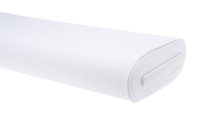 """Jersey-Stoff Uni """"Weiß"""" 158 cm breit (Meterware)"""