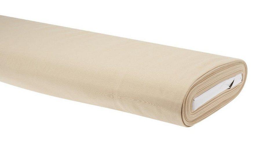 """Jersey-Stoff Uni """"Sand"""" 158 cm breit (Meterware)"""