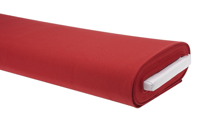 "Jersey-Stoff Uni ""Rot"" 158 cm breit (Meterware)"