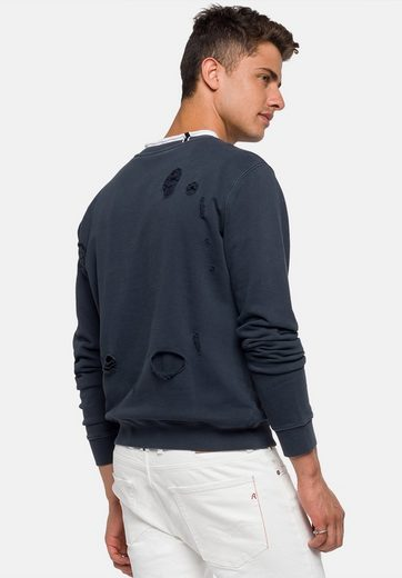 Replay Sweatshirt NOTHING TO LOSE, Destroyed-Elemente