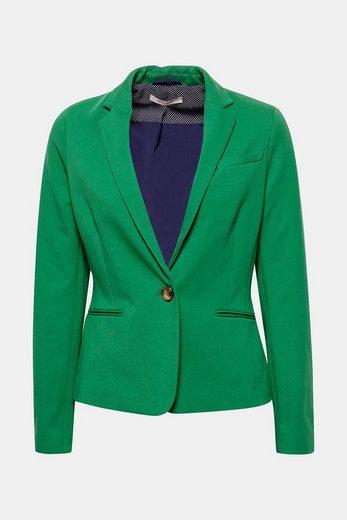 ESPRIT Taillierter Blazer aus Jersey/Stretch