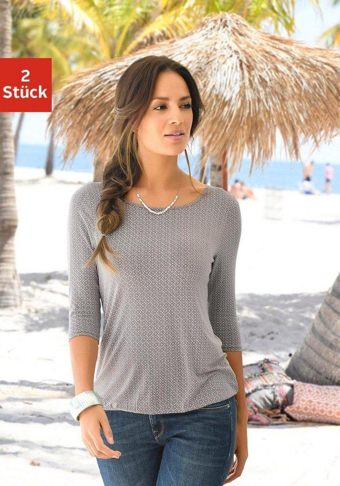 4995b193df01c9 LASCANA Shirt (2 Stück) mit Cut-out im Nacken