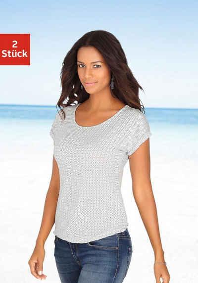 710e152f980e42 LASCANA T-Shirts (2 Stück) mit Cut-out im Nacken