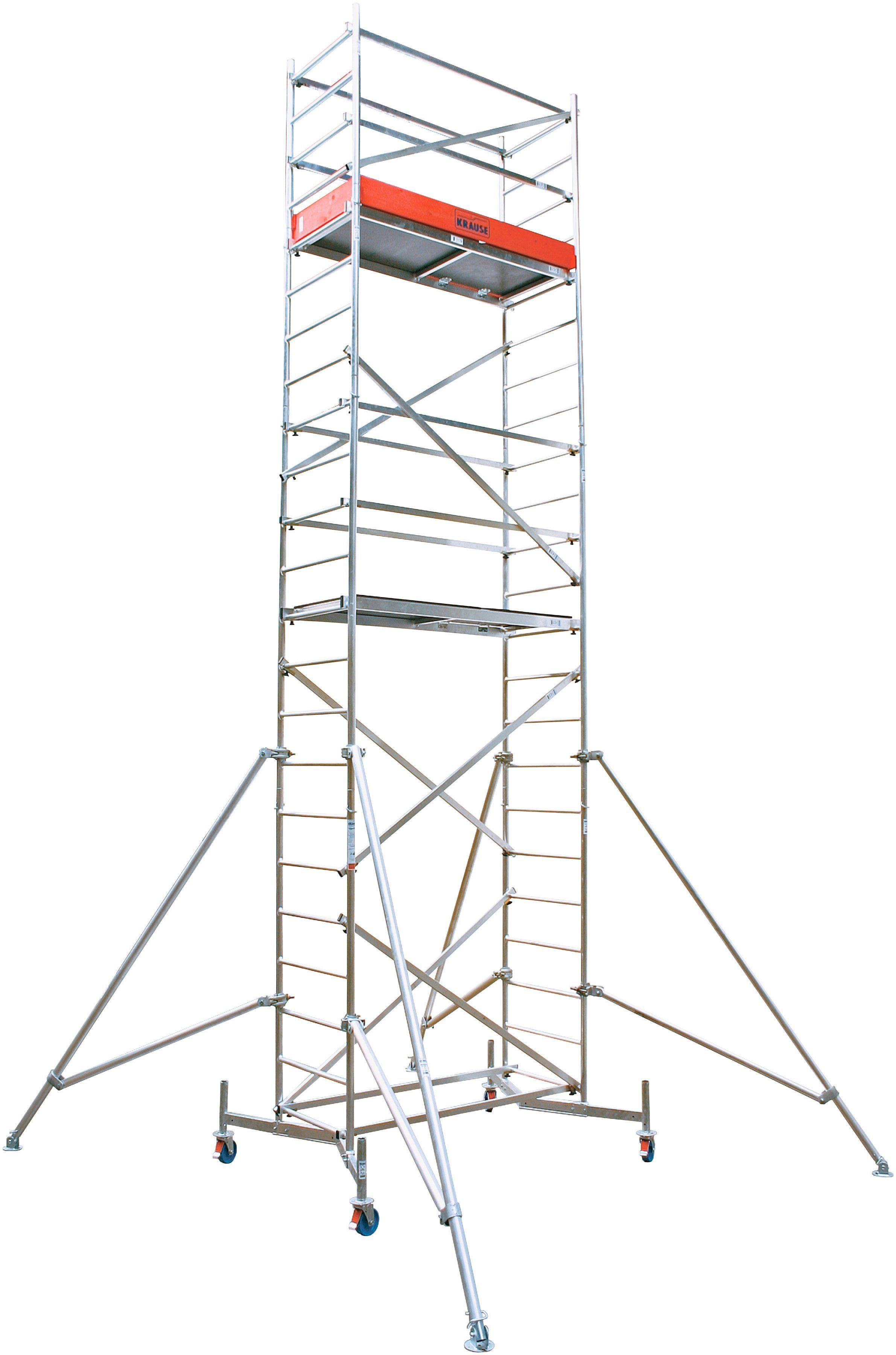 KRAUSE Fahrgerüst »ClimTec«, Arbeitshöhe 7 m, inkl. Fahrrollensatz Ø 150 mm