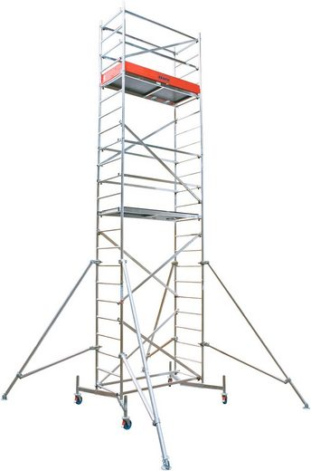 KRAUSE Fahrgerüst »ClimTec Komplettgerüst«, Max. Arbeitshöhe 7 m, inkl. Fahrrollensatz 150 mm