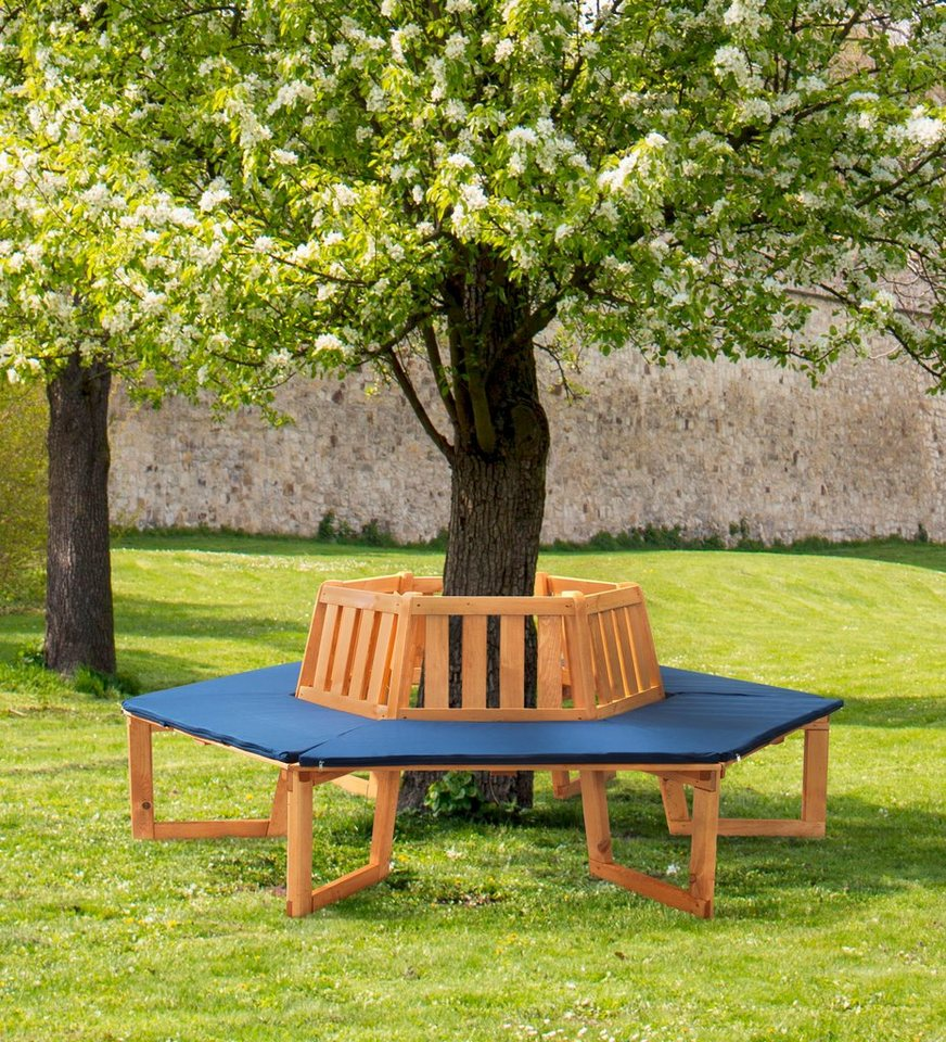 promadino baumbank 360 kiefernholz 205x178x90 cm. Black Bedroom Furniture Sets. Home Design Ideas