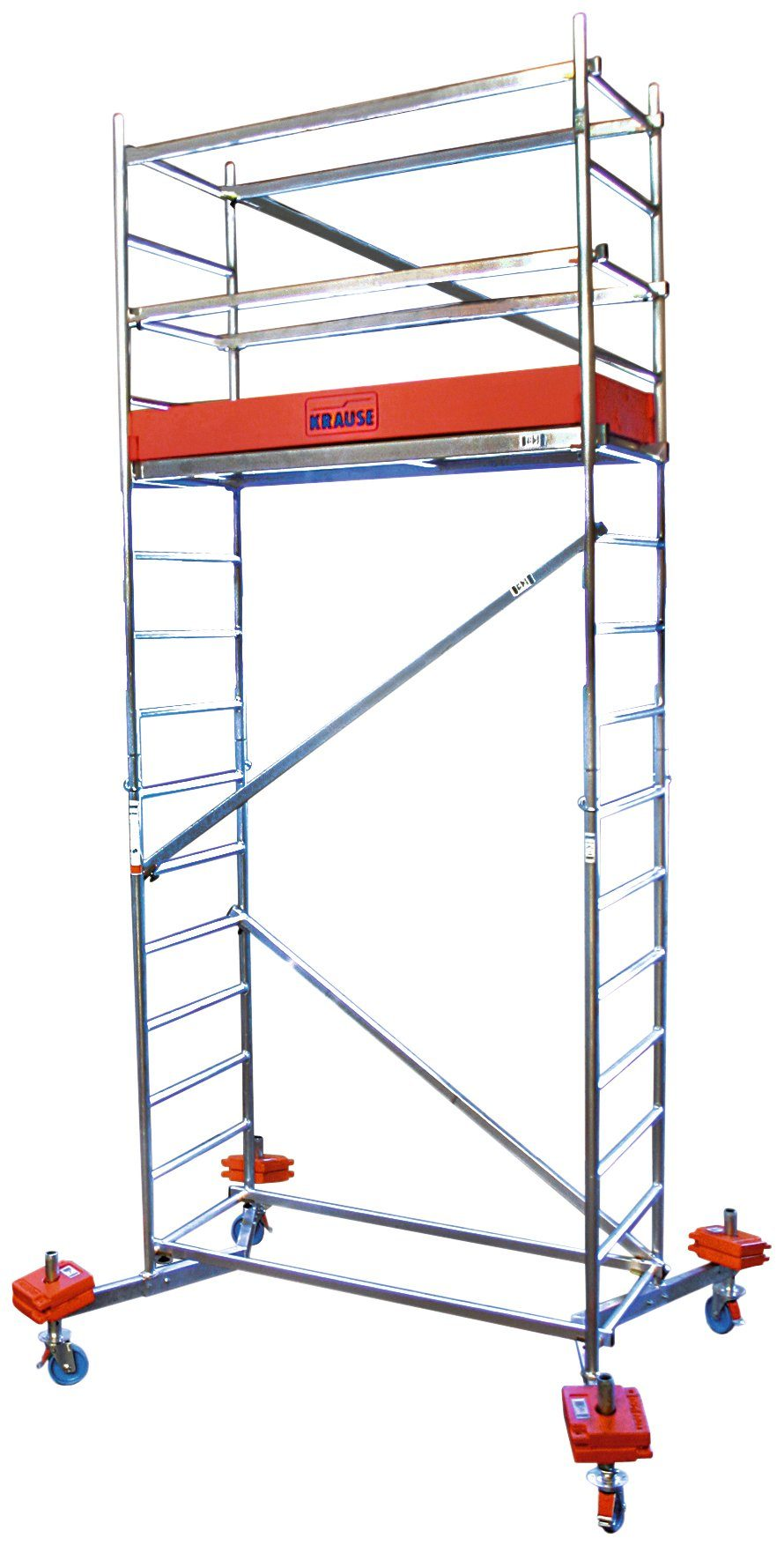 KRAUSE Fahrgerüst »ClimTec«, Arbeitshöhe 5m, inkl. Fahrrollensatz Ø 150 mm